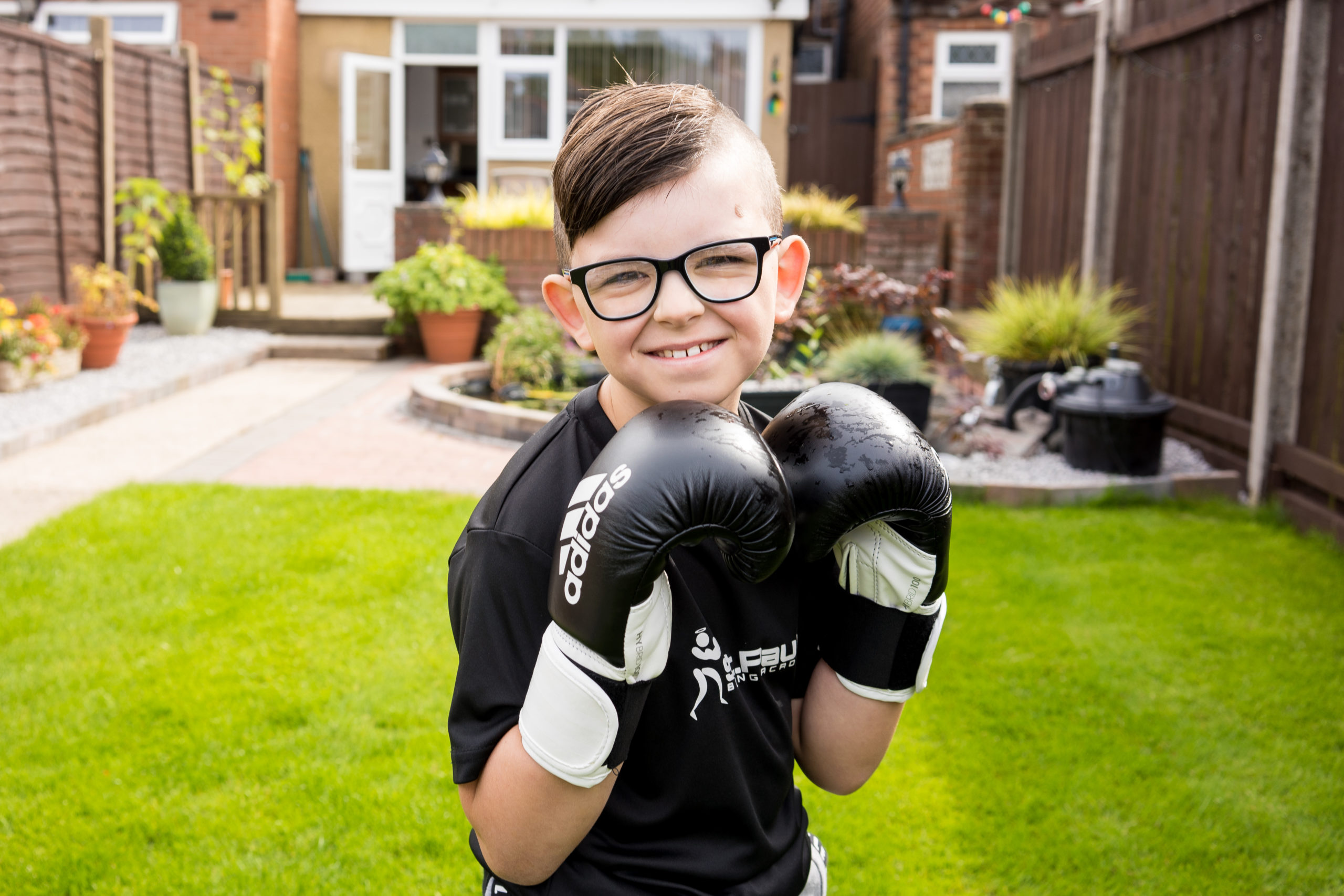 Seven-year-old Finleigh boxes clever to raise vital funds for St Paul's